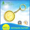 卸し売り安いカスタムロゴの金属の金はラインストーンとレーザーによって刻まれたCPR番号Keychainをめっきした