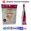 Sac 2017 zip-lock inférieur carré en plastique rescellable pour le quinoa