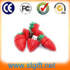 Comercio al por mayor Accesorios clave del controlador USB flash de fruta de la fresa Forma
