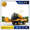 이동할 수 있는 구체 믹서 (4.0m3)를 적재해 Silon 각자