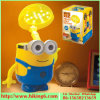Minions Shape Indoor Lighting, LED Night Lamp, lâmpada de mesa com caixa de dinheiro