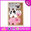 2014명의 새로운 다채로운 나무로 되는 아이 동물성 장난감, Popualr 귀여운 아이들 나무로 되는 동물성 장난감, 최신 판매 사랑스러운 아기 동물성 장난감 고정되는 W13e028