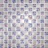 Mosaico de cristal 30X30 de cerámica del azulejo de la pared del mosaico del color de plata