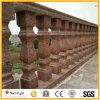 Balustres et balustrade rouges de granit de Chielsed pour la balustrade