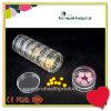 Transparent 7 couches de qualité alimentaire PP Round Capsule Pill Container