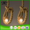 Luz pingente de corda de cânhamo estilo rústico e simples para casa