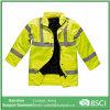 Auto-estrada de alta visibilidade jaqueta de segurança com a fita refletora