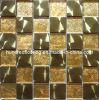 Mattonelle di mosaico di vetro della miscela del metallo dell'oro (SM201)