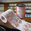 Noël a estampé le roulis personnalisé drôle de tissu de salle de bains de papier de toilette