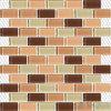 Mosaico Mixed di vetro della piscina del Brown del sottopassaggio
