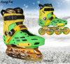 2 in pattini in-linea del 1 di ghiaccio del pattino di stile libero 4 delle rotelle del pattino della via rullo di Slalon (DA1025-1027)