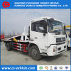 Dongfeng Één Aandrijving Drie Vrachtwagen Wrecker van de Terugwinning van de Weg 10tons Flatbed