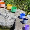 Высокое качество  Замороженный кристалл цвета Chakra кварца пея Bowl