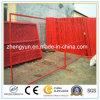 Canadá polvo de los 6FT del x 10FT cubrió los paneles de la cerca, cerca temporal soldada del acoplamiento de alambre