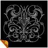 Garment (SP)のための美しいBling Bling Designer Flower Motif Owner