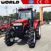 110HP Prijs de met 4 wielen van de Tractor van het Landbouwbedrijf van de Aandrijving voor Verkoop