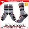 Großhandelsstreifen Paterned Socken mit Firmenzeichen-Zoll