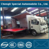 4X2 Dongfeng 4200mm Longueur Mobile Stage Truck