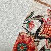 Hanree Mural material base con piedra arenisca Textura en blanco del color / papel inferior