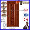 Puerta de madera de la pintura de la chapa del diseño costoso para los chalets