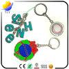 Anéis chaves do metal bem parecido da combinação do alfabeto e corrente chave do metal de Shpae do rugby