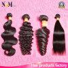 卸売価格100%の6AブラジルのバージンのRemyの毛の拡張ボディ波/深く波/ジェリーのカールの/Straightの毛