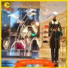 Usine d'affichage d'appui verticaux de lotus de décor d'éclairages LED de feuilles d'acrylique de visualisation de marques de mode