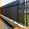 機密保護ランプの上の鋼鉄塀