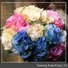 Цветок искусственной сини букета венчания розовый поддельный