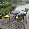 Muebles de jardín 5PCS Establece mesa de comedor y sillas de jardín de aluminio fundido Conjunto