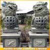 Chinesische Wächter-Löwe-Steinskulptur