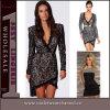 Mini longue robe de lacet de douilles de conception de mode européenne de dames (TBLSN176)