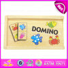 2015 Preschool Educational Wooden Toys Domino, Happy Pairing Set Children Domino Blocks, Wooden Domino Set с Promotions W15A021