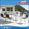 Aço inoxidável Mobiliário de Jardim com mesa de jantar e cadeiras