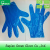 Перчатки устранимого голубого политена защитные