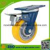 Gesamtbremse Hochleistungs-PU-Fußrollen-Rad