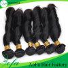 卸し売り安い価格の加工されていないバージンの人間の毛髪の束
