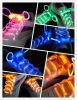 Optische Gloeiende Lichte LEIDENE van de Vezel Schoenveters