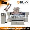2012-8, Multi-Spindle, madera, metal blando, 3D 4 rebajadora CNC de ejes giratorios