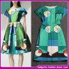 Primavera/Verão 2014 mulheres padrão geométrico novo vestido de impressão