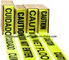 PE Plastic Protective Caution Tape черноты и Yellow