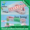 Горячее надувательство! 2m PVC белые портноя ленты Measure/2 метров ручные резцы ленты длиной мягкие измеряя 79inch/200cm*15mm могут напечатать подгонянный логос