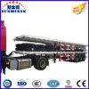 운반대 콘테이너를 위한 12500mm 길이 40FT 평상형 트레일러 트레일러