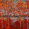 Het Landschap van de indruk van een Olieverfschilderij