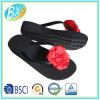 Планка PVC пятки клина ЕВА женщины обыкновенная толком единственная с тапочкой Flop Flip цветка