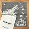 편지 최상 검정을%s 가진 펠트 편지 널은 10  X 10  편지 널을 느꼈다