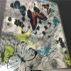 Tiñe Vidrio laminado con mariposas coloridas