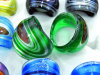 Silver-Dust, цвета внутри business Lampwork стекла кольцо (NR0054)