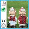 Lovely muñeco de nieve de poliresina decoración de la Navidad