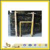 Galettes de marbre noires normales Polished de Portoro pour la partie supérieure du comptoir/Vanitytop (YQC)